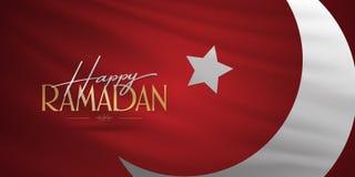 Gelukkige Ramadan Heilige maand van moslim communautaire Ramazan Aanplakbord, Affiche, Sociale Media, het malplaatje van de Groet royalty-vrije illustratie