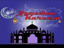 Gelukkige ramadan kareem voor uw familie op uw bedrijf royalty-vrije illustratie