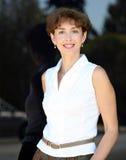 Gelukkige rijpe vrouw Royalty-vrije Stock Foto's