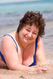 Gelukkige rijpe vrouw stock fotografie