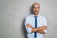 Gelukkige rijpe zakenman Stock Fotografie