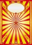 Gelukkige rode en gele achtergrond Stock Afbeelding