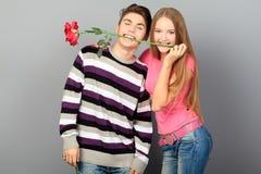 Gelukkige romantisch Stock Fotografie