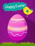 Gelukkige roze het eivector van Pasen, Pasen-vakantie, ei vector, roze ei Stock Foto's