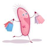 Gelukkige roze infusorian berenpakketten van aankopen Royalty-vrije Stock Foto's