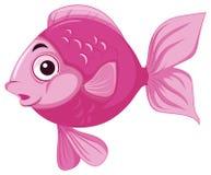 Gelukkige roze vissen in water stock illustratie