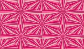 Gelukkige roze zonnestraalillustratie Royalty-vrije Stock Afbeelding
