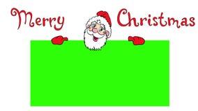 Gelukkige Santa Claus over groene spatie 4K animatie stock illustratie