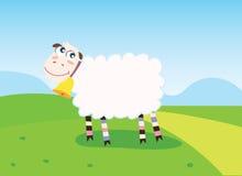Gelukkige schapen stock illustratie
