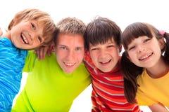 Gelukkige siblings stock fotografie