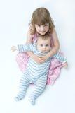 Gelukkige siblings Royalty-vrije Stock Foto's