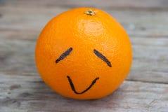 Gelukkige Sinaasappel Royalty-vrije Stock Afbeeldingen