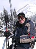 Gelukkige skiër royalty-vrije stock fotografie