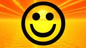 Gelukkige smiley vector illustratie