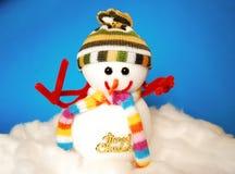 Gelukkige sneeuwman Royalty-vrije Stock Foto's
