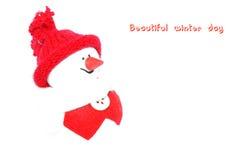 Gelukkige Sneeuwman. Royalty-vrije Stock Afbeelding