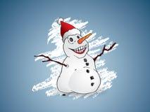 Gelukkige sneeuwman Royalty-vrije Stock Afbeeldingen