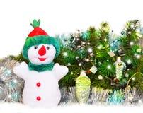 Gelukkige sneeuwman stock foto