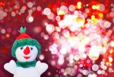 Gelukkige sneeuwman stock foto's