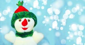 Gelukkige sneeuwman royalty-vrije stock fotografie