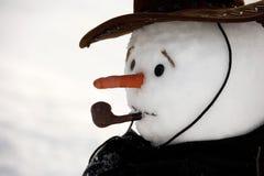 Gelukkige sneeuwmens Royalty-vrije Stock Afbeelding