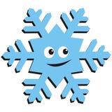 Gelukkige sneeuwvlok Royalty-vrije Stock Afbeeldingen