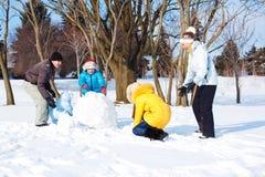 Gelukkige sneeuwvrije tijd stock afbeelding