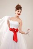 Gelukkige speld-omhooggaande bruid Stock Afbeeldingen