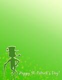 Gelukkige St. Patrick Dag! Stationair of Affiche! Royalty-vrije Stock Foto
