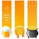 Gelukkige St Patrick ` s Dag Verticale Banners Stock Foto's