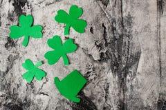 Gelukkige St Patrick ` s Dagachtergrond Stock Afbeeldingen