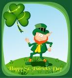 Gelukkige St Patrick s Dagkaart Royalty-vrije Stock Afbeeldingen