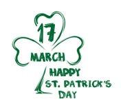 Gelukkige St Patricks dag 17 maart Gelukwensen aan de St Patricks Dag Royalty-vrije Stock Afbeeldingen