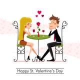 Gelukkige St Valentijnskaartendag Royalty-vrije Stock Foto's