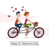 Gelukkige St Valentijnskaartendag Stock Foto's