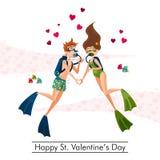 Gelukkige St Valentijnskaartendag Royalty-vrije Stock Afbeelding