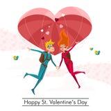 Gelukkige St Valentijnskaartendag Stock Afbeeldingen