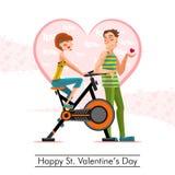 Gelukkige St Valentijnskaartendag Stock Afbeelding