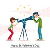 Gelukkige St Valentijnskaartendag Stock Fotografie