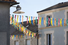 Gelukkige straat in Frankrijk op 14 Juli Royalty-vrije Stock Fotografie