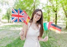 Gelukkige Student Learning Languages stock fotografie