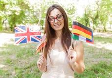 Gelukkige Student Learning Languages royalty-vrije stock fotografie