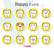 Gelukkige tanden royalty-vrije stock afbeeldingen