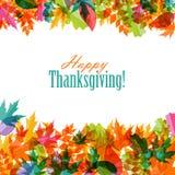 Gelukkige Thanksgiving dayachtergrond met Glanzend Stock Fotografie