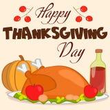 Gelukkige Thanksgiving daykaart royalty-vrije stock fotografie