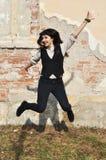 Gelukkige tiener in de lente zonnige dag Royalty-vrije Stock Afbeelding
