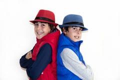 Gelukkige Tienerjaren met Autumn Clothes Royalty-vrije Stock Foto's