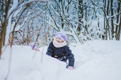 Gelukkige tijd in de wintertijd royalty-vrije stock foto's