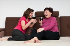 Gelukkige tijd - moeder met dochter Royalty-vrije Stock Foto