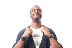 Gelukkige toevallige geklede zwarte mens Stock Afbeeldingen
